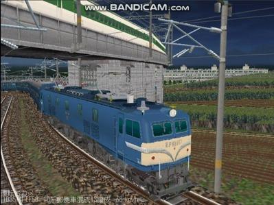 越河レイアウト夜汽車シリーズ16-EF58-157八甲田3