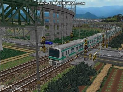 越河レイアウト電車シリーズ72-E231系常磐線6