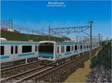 進撃の通勤電車37  JR209系ブルー2.