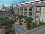 3欲張り新幹線レイアウト踏切道部分81