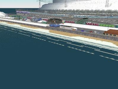 仮想日本海縦幹線雪景色海岸線完成4