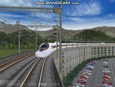 越河レイアウト東北新幹線700系レールスター8