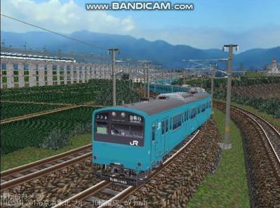 越河レイアウト電車シリーズ70-201系京浜東北スカイブルー2