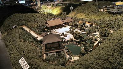 ジオラマ京都HOゲージ右側銀閣2