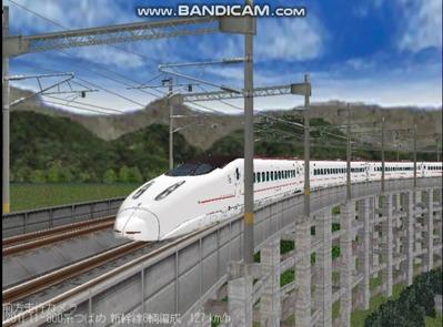 越河レイアウト東北新幹線800系つばめ7