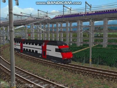 越河レイアウト特急シリーズ56-スイス国鉄IC-2000-9
