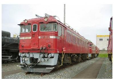仙台新幹線車両基地展示車両EF77-1