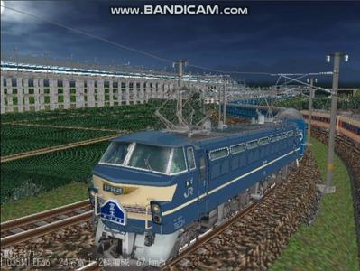 越河レイアウト夜汽車シリーズ11-EF6645富士2