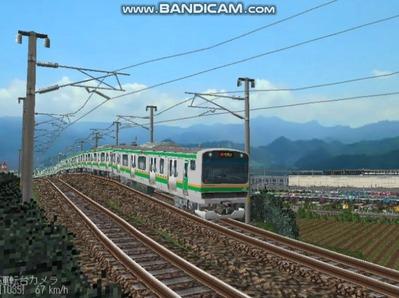 越河レイアウト電車シリーズ75-E231系近郊電車4