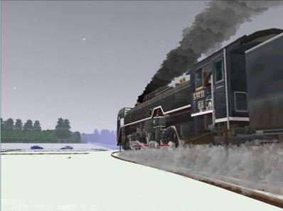 単線自動運転4編成雪景色7
