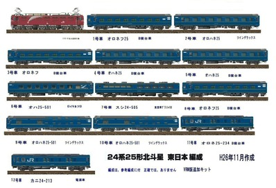 VRM3版24系25形北斗星寝台客車JR東日本1