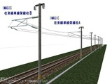 IMAGIC 単線在来線線架線柱AB 128�斜め2