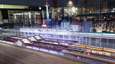 ジオラマ京都HOゲージ夜景その2