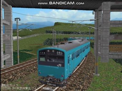 越河レイアウト電車シリーズ70-201系京浜東北スカイブルー8