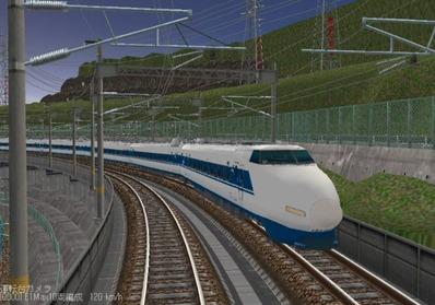 仮想日本海縦幹線雪景色夜明け前100系2