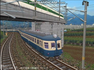 越河レイアウト電車シリーズ58-52系流電4