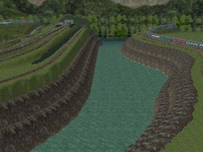越河レイアウト越河第2ダム湖2