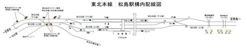 東北本線松島駅構内配線図1