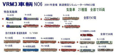 新VRM3車両NO6気動車