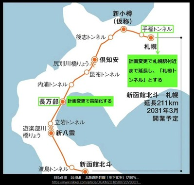 JR北海道の路線図5