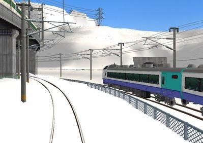 仮想日本海縦幹線雪景色完成青空4