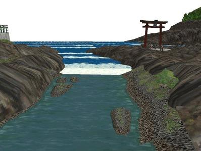 5編成並走見張線海岸線岩礁11