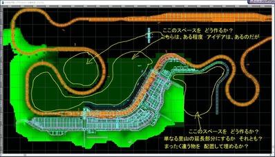 東北本線越河駅周辺情景31レイアウト図