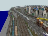 3欲張り新幹線レイアウト踏切道部分95