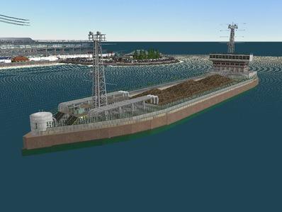 仮想日本海縦幹線雪景色海岸線完成8船