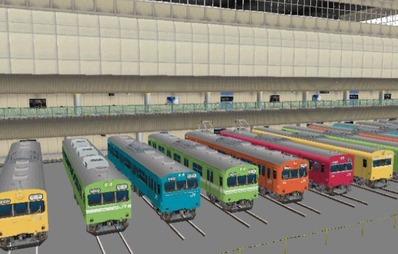 VRM3版車両博物館103系ブース斜め7