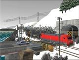 雪景色と貨物交換駅レイアウト踏切15.jpg