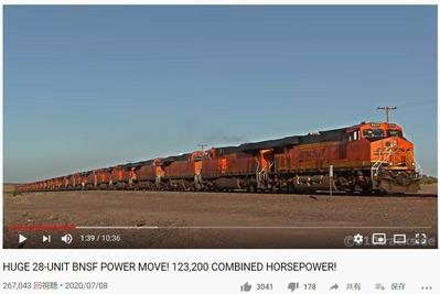アメリカンディーゼル機関車28両動画2