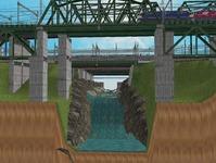 3300X700�レイアウト河川を作る5