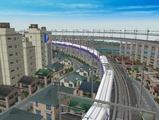 3欲張り新幹線レイアウト踏切道部分94