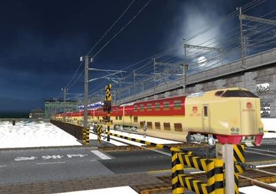 仮想日本海縦幹線雪景色285系サンライズ3