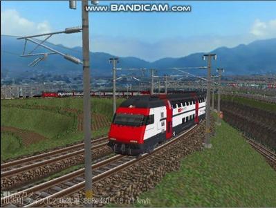 越河レイアウト特急シリーズ56-スイス国鉄IC-2000-3
