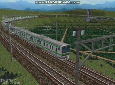 越河レイアウト電車シリーズ75-E231系近郊電車8