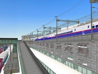 仮想日本海縦幹線雪景色新幹線変電所3