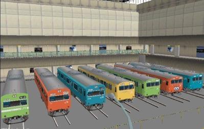 VRM3版車両博物館103系ブース斜め6
