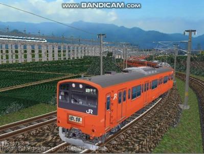 越河レイアウト電車シリーズ69-201系中央線オレンジ中特2