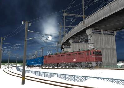仮想日本海縦幹線雪景色カーブ10日本海