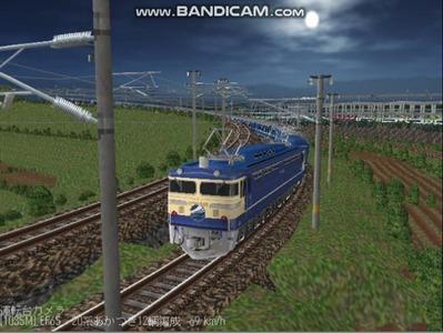 越河レイアウト夜汽車シリーズ12-EF65-500あかつき2