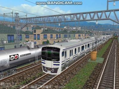 越河レイアウト電車シリーズ80-E217系二階建て1