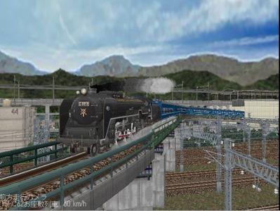越河レイアウト見張線C62お座敷列車編成6