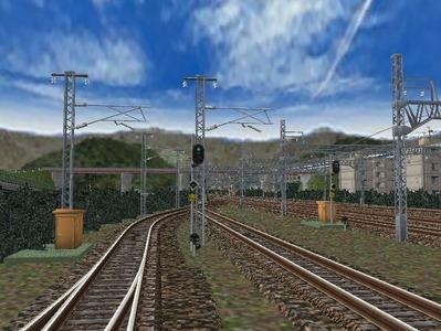 白石駅構内下り出発信号機2