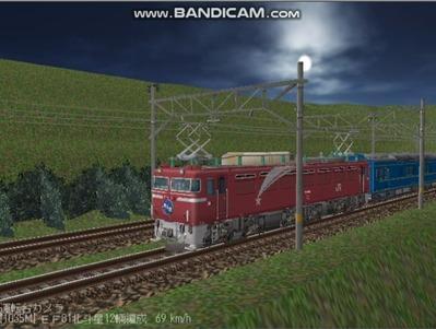 越河レイアウト夜汽車シリーズ6-EF8181北斗星5