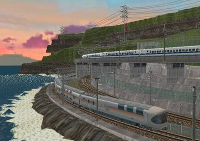 仮想日本海縦幹線日本海夕暮れ4カシオペア4
