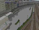 3欲張り新幹線レイアウト踏切道部分100