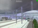 北の貨物駅通過中EF66-32-4.