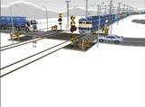 雪景色と貨物交換駅レイアウト踏切18.jpg